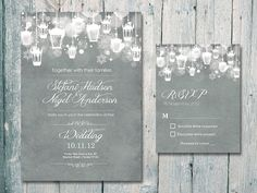 Personalized Winter Dreaming Wedding Invitation & RSVP Card. Order yours at https://www.facebook.com/BoardmanPrinting/