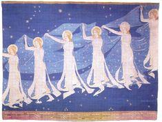 """Milky Way"" tapestry by Frida Hansen (1899)"