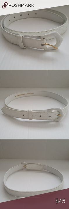"""Lana  marks women's genuine ostrich belt sz medium Lana  marks women's genuine ostrich belt sz medium white Has normal wear around edge of belt please see pictures 36"""" long tip to end of buckle lana marks Accessories Belts"""