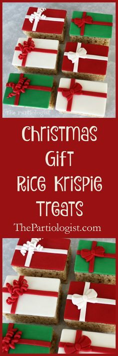 The Partiologist: Rice Krispie Treats that Look Like Gifts!