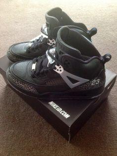 a1670bb76890f2 NikeID Jordan Spizike (Side)  Nikeid  Jordans  23  Spizike  Black  Cement   Unboxing