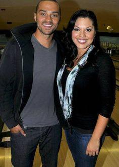 Jesse Williams (Jackson Avery) & Sara Ramirez (Callie Torres). Grey's Anatomy.