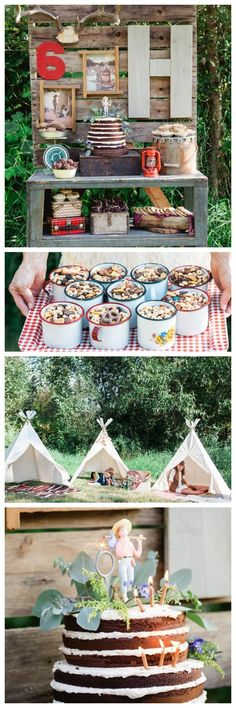 Ideas for an Adventure Themed Birthday Party - fab food, decor and cake ideas! Could be used for a camping party too!