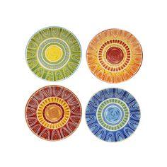 Certified International Tapas by Joyce Shelton Studios 4-pc. Dinner Plate Set, Multicolor