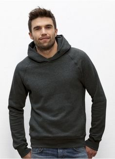 34bf298c961728 Toasty Boy men's hoodie in Dark Heather Grey. Fair trade and made from 85%