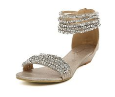 Silver crystal wedding shoes,bridal shoes,peep-toe shoes,women sandals,flat shoes