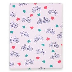 Bike Love Canvas Print #bike #heart #love #trendy #canvas #print