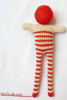 Dentsdeloup striped doll     Knuffels à la carte blog