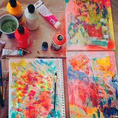Backgrounds From Juliette Crane's Happy Painting workshop at Lucky Star Art Camp in Texas.http://juliettecrane.com