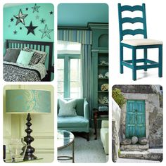 Teal and Turquois Room Ideas | teal-turquoise