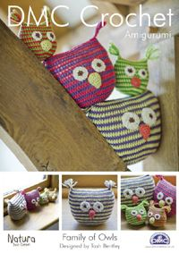 Family of Owls DMC Amigurumi Crochet Pattern , owl toy crochet , stuffed toy, crochet toy, owl fami Sirdar Knitting Patterns, Owl Crochet Patterns, Crochet Owls, Owl Patterns, Cute Crochet, Crochet Animals, Crochet Yarn, Crochet Stitches, Baby Knitting