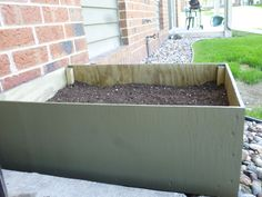 My apartment vegtable garden! Made the box out of plywood painted it with mistake paint I found for two dollars whole project 15 bucks! Just finished planting, hope it all grows :)