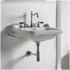 Buy the WS Bath Collections Waldorf 1 Faucet Hole Direct. Shop for the WS Bath Collections Waldorf 1 Faucet Hole Waldorf Ceramic White Wall Mounted Bathroom Sink with Overflow and save. Bathroom Sink Decor, Wall Mounted Bathroom Sinks, Undermount Bathroom Sink, Bathroom Faucets, Small Bathroom, Master Bathroom, Bathroom Plans, Bathroom Renovations, 1930s Bathroom
