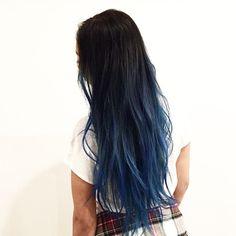 What can I say, everyone wants blue  hair #haircolor #color #blue #blueombre #ombre #blondehair #blonde #hair by #mizzchoi @ramireztransalon #ramireztran #ramireztransalon  (at Ramirez Tran Salon)