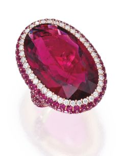 18 Karat Rose Gold, Rubellite, Ruby and Diamond Ring, Michele della Valle - Sotheby's