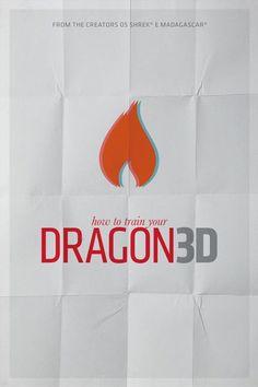 How to Train Your Dragon (2010) ~ Minimal Movie Poster by Pedro Vidotto #amusementphile