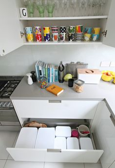 How to organise kitchen storage with Curver boxes. How I've decluttered the kitchen, and organised it to make life easier and happy in the kitchen Kitchen Organization, Kitchen Storage, Boxes, Cleaning, Decoration, Happy, Life, Design, Home Decor