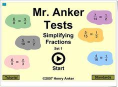 """""""Simplificación de fracciones"""" (Henryanker.com)"""