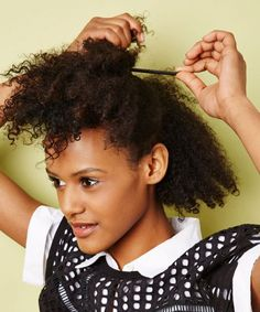 The best hairstyles for transitioning hair. #transitiontonaturalhairstyles