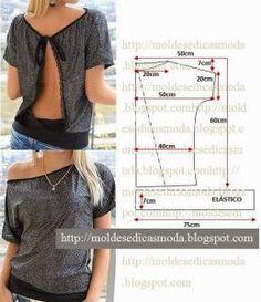 blusa com decote nas costas