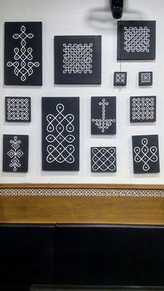 37 ideas for modern art diy painting wall hangings Rangoli Designs Flower, Rangoli Border Designs, Small Rangoli Design, Rangoli Patterns, Rangoli Ideas, Rangoli Designs With Dots, Rangoli Designs Images, Beautiful Rangoli Designs, Dot Rangoli