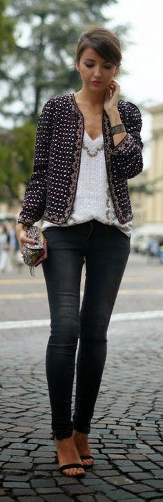 Black Heavily Embellished Jacket by Lovely Pepa