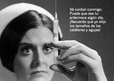 No cabrees a una enfermera