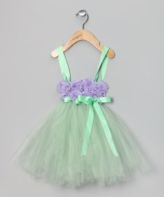 Purple & Green Flower Dress