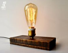 Edison Lamp (for countries with electric power 220 Voltage) by MadForCraftGR on Etsy