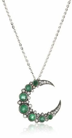 """Colette Steckel """"Galaxia"""" 18k Gold Medium Crescent Pendant Necklace with Chain on shopstyle.com"""