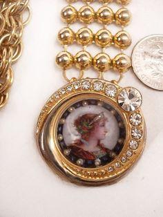 Vintage Miniature seed pearl portrait by vintagesparkles on Etsy, $165.00