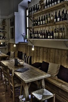 love this rustic look-want to eat here