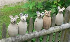 There's a mouse in the house Pottery Animals, Ceramic Animals, Clay Animals, Cement Art, Cement Crafts, Clay Crafts, Ceramic Clay, Ceramic Pottery, Cosy Garden