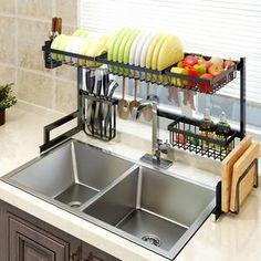 Deinbe Acier Inoxydable Over-The-Rack Cabinet de Cuisine Torchon Porte-Bar de tiroir