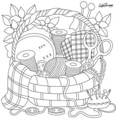 Sewing crafts for adults gift ideas 57 Super ideas Cute Coloring Pages, Printable Coloring Pages, Adult Coloring Pages, Coloring Books, Colouring Pages For Adults, Vintage Embroidery, Embroidery Stitches, Embroidery Patterns, Hand Embroidery