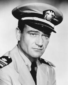 "John Wayne I loved him in the movie, ""In Harms Way."""