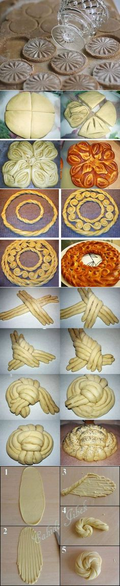 Pinned onto Baking Decoration Saved in Food and drink Category Creative Kitchen, Creative Food, Bread Recipes, Cooking Recipes, Bread Art, Bread Shaping, Braided Bread, Bread And Pastries, Artisan Bread