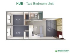 Floorplan with dimensions for two-bedroom unit in HUB residence at UAlberta. Bathroom Layout Plans, Master Bathroom Layout, Bathroom Floor Plans, Wooden Gazebo Plans, Wine Rack Plans, University Of Alberta, Beach House Plans, Room Planning, Story House