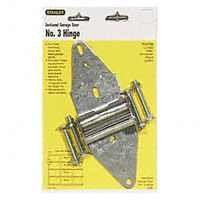 Stanley Hardware 73-0750 Sectional Garage Door Hinge #3 by Stanley. $6.99. 730750 Features: -For use on most overhead sectional wood and steel garage doors.-Low profile design allows for use in majority of retrofit applications.-Hinge barrel accepts 7/16'' roller shaft.-Hot dipped galvanized steel.-Carded.-No 3 hinge, use between door section 3 and 4. Includes: -Includes with carriage bolts and nuts. Construction: -Each hinge manufactured of 14 gauge steel to provide for years o...