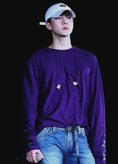 INTO YOUR WORLD | i never knew i needed Sehun wearing purple