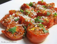 For the Love of Cooking » Roasted Tomatoes with Cotija Cheese and Cilantro