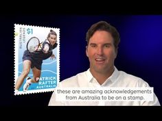 Australian former World No. 1 tennis player, Patrick Rafter talks about being a 2016 Australia Post Legend Awards Recipient. Pat Rafter is one of eleven of A. Stamp Collecting, Postage Stamps, Australia, Olympians, Tennis, Legends, Range, Lovers, Sport