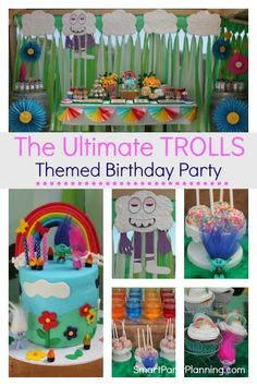 Trolls themed birthday party that kids will absolutely love. Use these DIY party ideas to create a stunning backdrop and party decorations that are perfect for a Trolls world and party vibe that just screams fun.The Trolls party incorporates a bold rainbow design, and will be loved by boys and girls alike. Birthday Party Decorations Diy, Girls Birthday Party Themes, 2nd Birthday, Birthday Ideas, Theme Parties, Balloon Decorations, Trolls Birthday Party, Troll Party, Party Kulissen