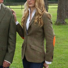 Ladies Tweed Jacket by Kevin's | Kevin's Catalog. Ooh, orange elbow patches! I like it.