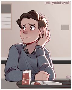 Peter Parker by @tinymintywolf