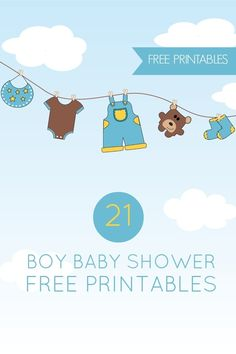 21 Free Boy Baby Shower Printables - Spaceships and Laser Beams