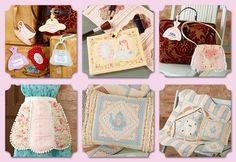 """Delightfully Feminine Projects Made in the Hoop by Shelly Smola  The 64-page book includes 6 Delightfully Feminine Projects that can be stitched in a 5"""" x 7"""" hoop.  The projects include: - Tea Party Luggage Tags - Glamour Girl Makeup Case - Petite Purse - Vintage Apron - Time for Tea Pillow - Time for Tea Quilt  For more information or to purchase visit:  http://www.shop.dzgns.com/collections/books/products/all-for-me-delightfully-feminine-projects-made-in-the-hoop-by-shelly-smola"""
