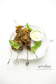 yellow curry chicken skewers by www.pane-burro.blogspot.it