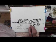 Watercoloring an exercise for our beginners - YouTube