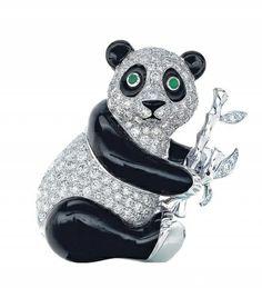 Tiffany panda brooch